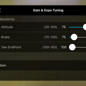 Gain & Expo Tuning - Sensitivty