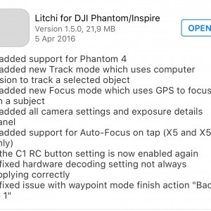 Litchi iOS update